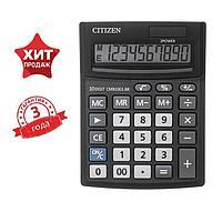 Калькулятор настольный Citizen Business Line CMB, 10 разрядный, двойное питание, 102 х 137 х 31 мм, чёрный
