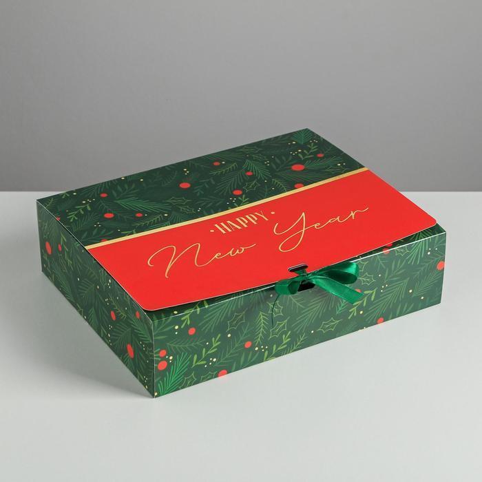 Складная коробка подарочная 'С новым годом', 31 x 24,5 x 9 см - фото 1