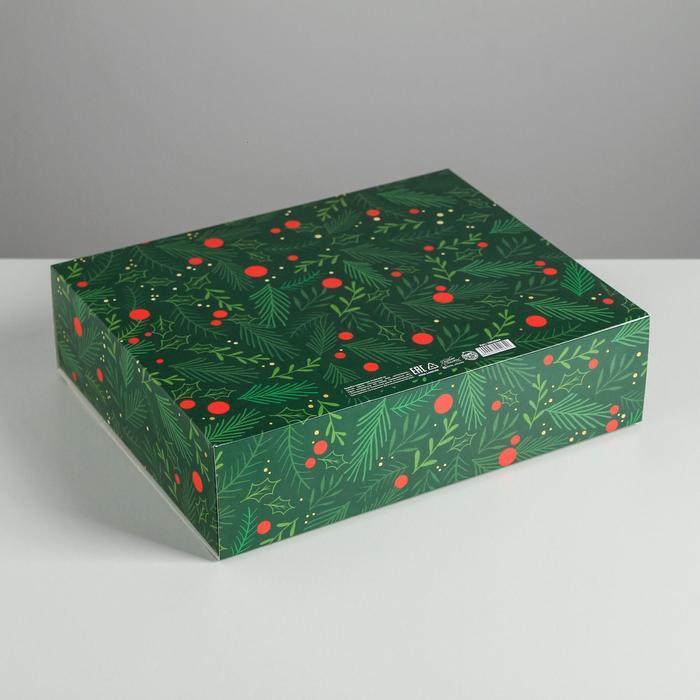 Складная коробка подарочная 'С новым годом', 31 x 24,5 x 9 см - фото 2