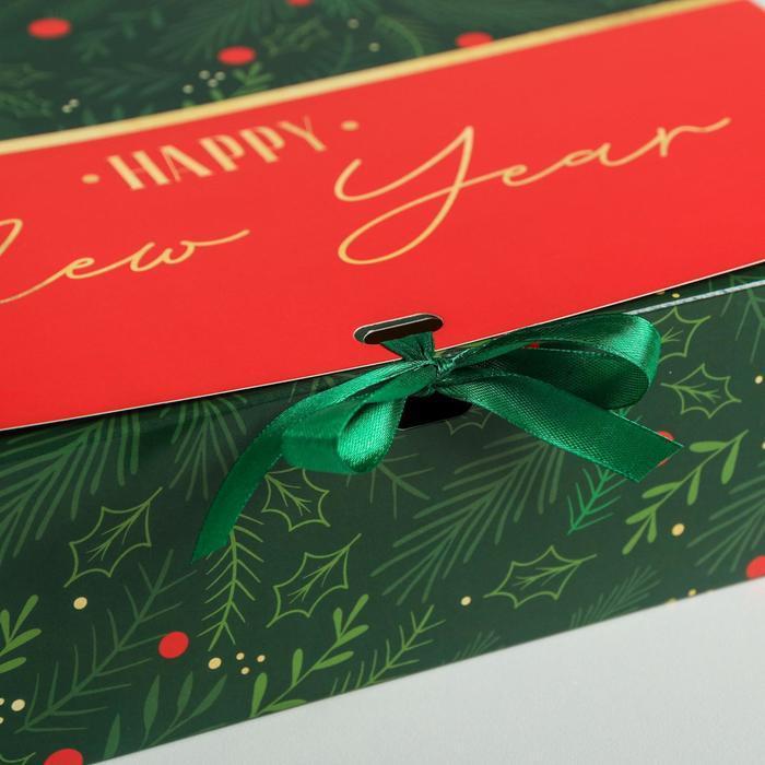 Складная коробка подарочная 'С новым годом', 31 x 24,5 x 9 см - фото 3