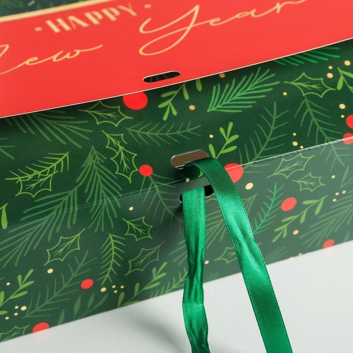Складная коробка подарочная 'С новым годом', 31 x 24,5 x 9 см - фото 4