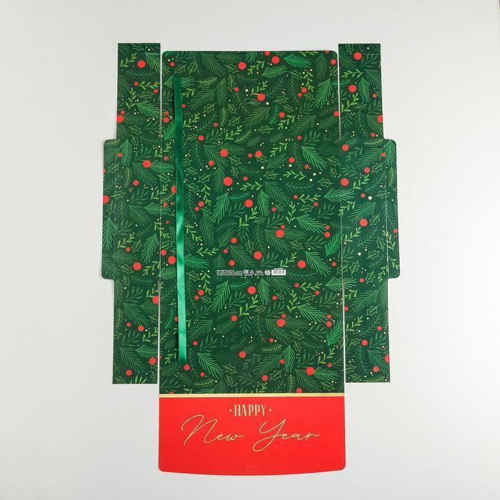 Складная коробка подарочная 'С новым годом', 31 x 24,5 x 9 см - фото 5