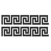 Декор настенный 'Лабиринт', наклейка из акрила, 10 элементов, 10х10 см, чёрная