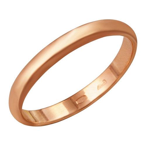Кольцо 'Обручальное' узкое, позолота, 17,5 размер
