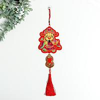 Панно текстиль 'Китайский старец' 35 см
