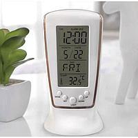 Часы-будильник электронные 'Паритет', термометр, 13 х 6.5 см