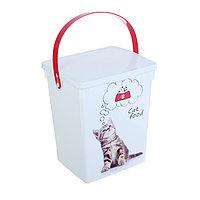 Контейнер 'Кошки' для корма для кошек, 5 л