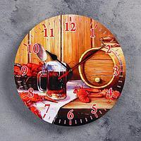 Часы настенные, серия Интерьер, для бани 'Банный набор'