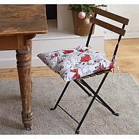 Сидушка на стул 'Доляна' Новогоднее настроение 42х42х5 см, 100 хлопок, 164 г/м2