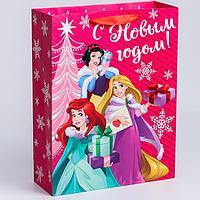 Пакет ламинат вертикальный 'С Новым годом!', 31х40х11 см, Принцессы