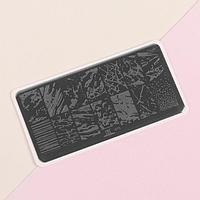 Диск для стемпинга металлический 'Мрамор', 12 x 6 см