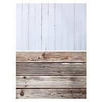 Фотофон двусторонний бумага 300 гр 'Белые и коричневые доски' 57х87 см