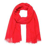 Палантин женский текстильный, цвет красный, размер 75х180