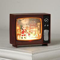Фигура светодиодная 'Телевизор вишневый, Новый год', 4х10х8 см, от бат. 3хLR44, RGB