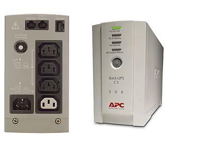 APC BK500EI ИБП Back UPS CS 500VA, USB, 3+1розет., самодиагностика, защита RJ-11