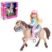 Набор игровой кукла с лошадкой, шарнирная, МИКС