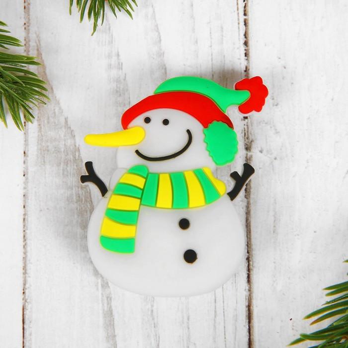 Карнавальный значок 'Снеговик', световой (комплект из 15 шт.) - фото 1