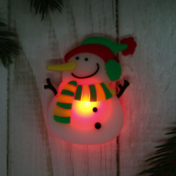 Карнавальный значок 'Снеговик', световой (комплект из 15 шт.) - фото 3