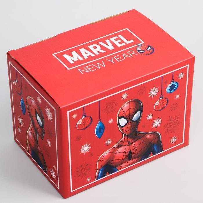 Коробка подарочная складная 'Marvel. New year', Человек-паук, 20 x 15 x 14 см - фото 3