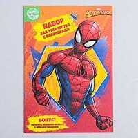 Книга с наклейками 'Герой', Человек-паук