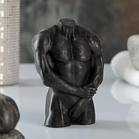 Фигурное мыло 'Мужской торс 2' черное, 135гр