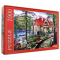 Пазл 'Красивый дом у озера', 1000 элементов