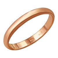 Кольцо 'Обручальное' узкое, позолота, 17 размер