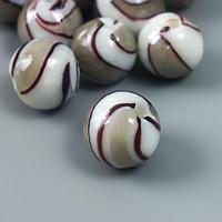 Набор бусин ручной работы 'Мурано' 10 шт, 35 гр, кремовый