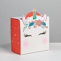 Коробка складная 'Единорог', 15 х 15 х 8 см