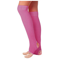 Гетры для танцев 5, без носка и пятки, L 50 см, цвет фуксия
