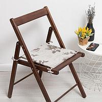 Сидушка на стул 'Фиалка', цвет тёмно-бежевый, 34х34х1,5см