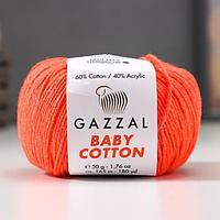 Пряжа 'Baby Cotton' 60 хлопок, 40 полиакрил 165м/50гр (3459) (комплект из 5 шт.)