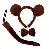 Карнавальный набор 'Мишка', ободок, хвост, бабочка