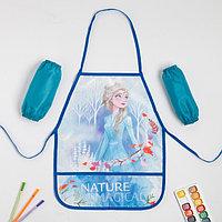 Набор детский для творчества 'Narure', Холодное сердце (фартук 49х39 см и нарукавники)