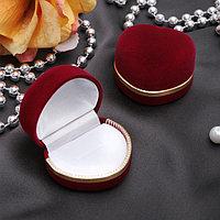 Футляр под кольцо 'Сердце' 4*5, цвет бордовый с золотом