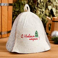 Колпак для бани шапка 'С Новым годом! Ёлочка'