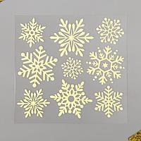 Светящаяся в темнота наклейка Room Decor 'Снежинки' 18х18 см