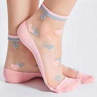 Носки женские стеклянные, цвет розовый (pearl gul), размер 36-38
