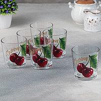 Набор стаканов 'Ода. Полезная вишня', 250 мл, 6 шт (комплект из 6 шт.)