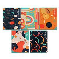 Тетрадь 80 листов в линейку 'Абстракция Грин', обложка мелованный картон, блок офсет, МИКС (комплект из 2 шт.)