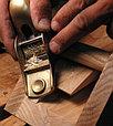 Рубанок торцовочный Lie-Nielsen N102 LA 133 31.7мм, бронзовая колодка, фото 3