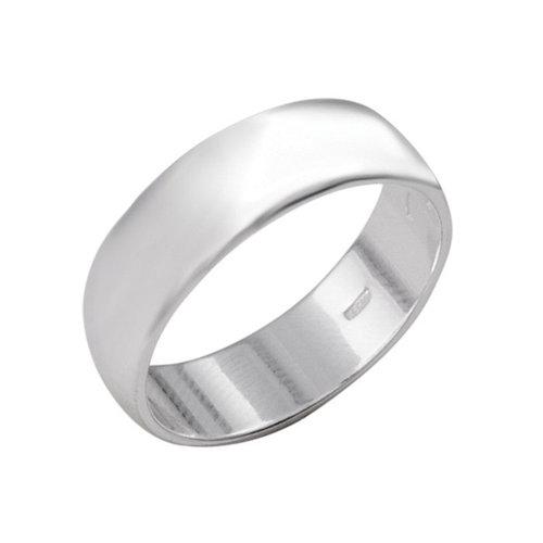 Кольцо 'Обручальное', посеребрение, 19 размер
