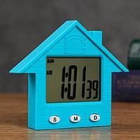 Часы электронные 'Домик' 8.3х1.5х7.3 см , микс
