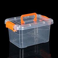Контейнер для хранения, крышка с ручкой на защёлке, цвет МИКС