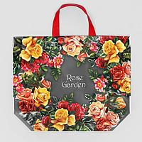 Эко сумка с петлевой ручкой 'Чайная роза' 50х40 см, 160 мкм (комплект из 10 шт.)