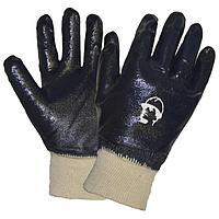 Перчатки х/б с полным нитриловым покрытием, манжет резинка, размер XL (10)