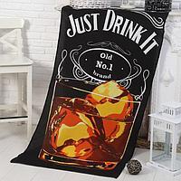 Полотенце -Панно Виски (пакет) 80х150 см, вафля, хлопок 100, 170г/м2