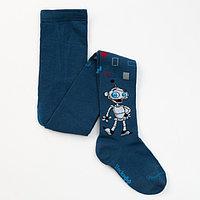 Колготки для мальчика, цвет джинсовый, рост 98-104