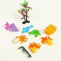 Растущие животные 'Морские животные', набор 8шт + дерево, МИКС