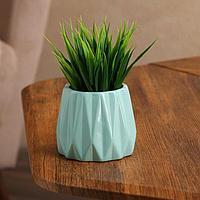 Кашпо 'Оригами', голубое, керамика, 0.25 л